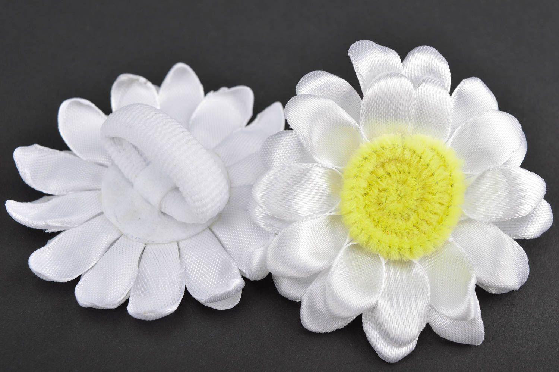 Beautiful handmade hair scrunchie textile flower hair tie trendy hair gift ideas photo 3