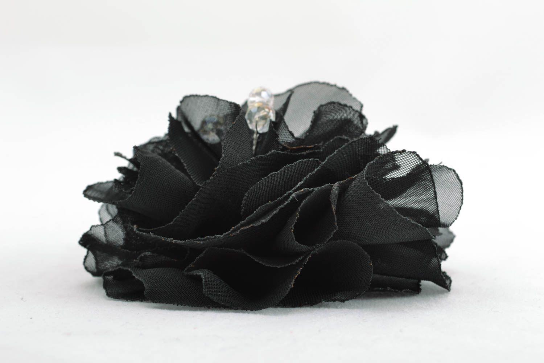 Designer floral brooch Black photo 2