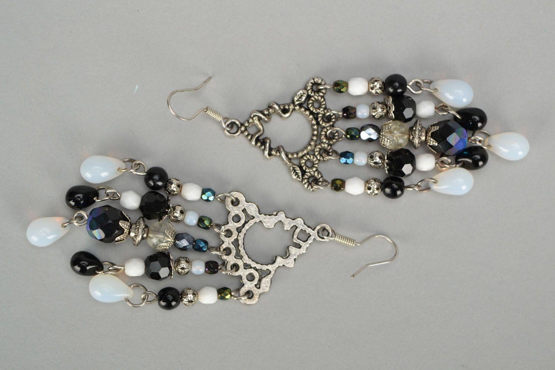 Czech glass earrings photo 4