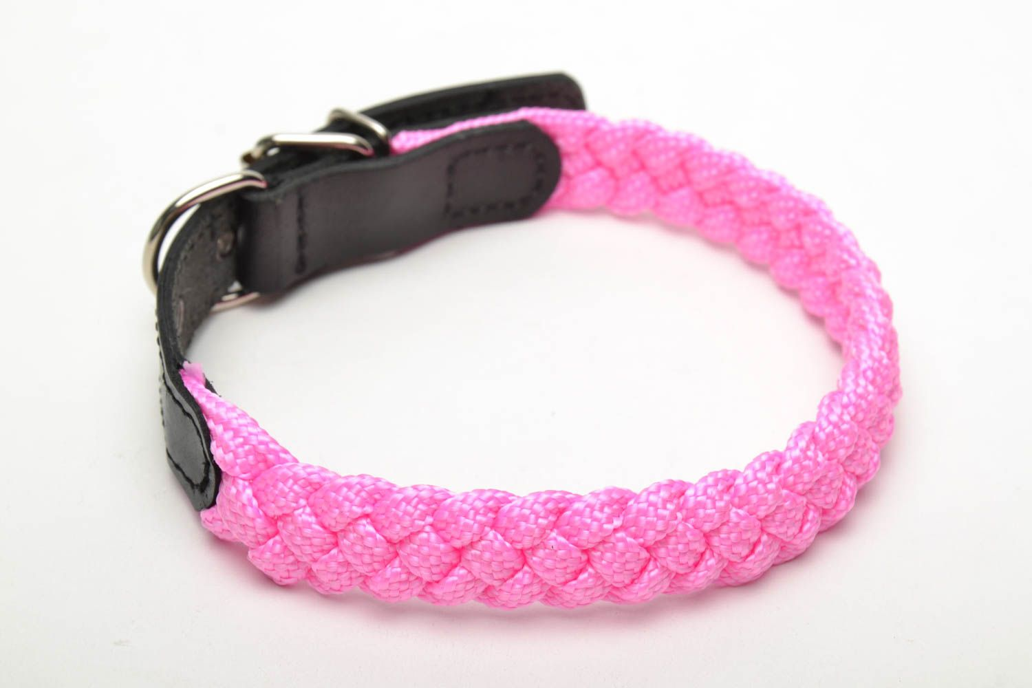 Bright woven dog collar photo 1
