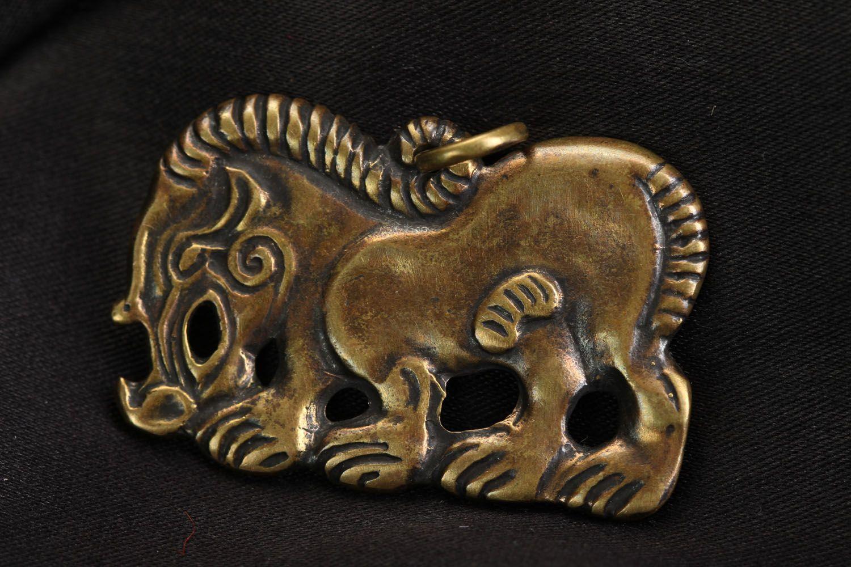 Handmade bronze pendant Scythian Wild Boar photo 1