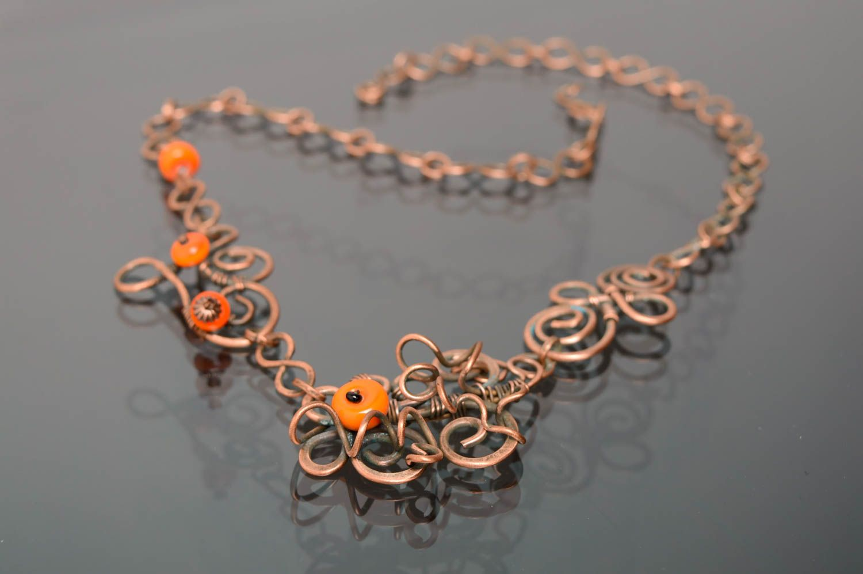 Handmade Collier aus Kupfer  foto 1