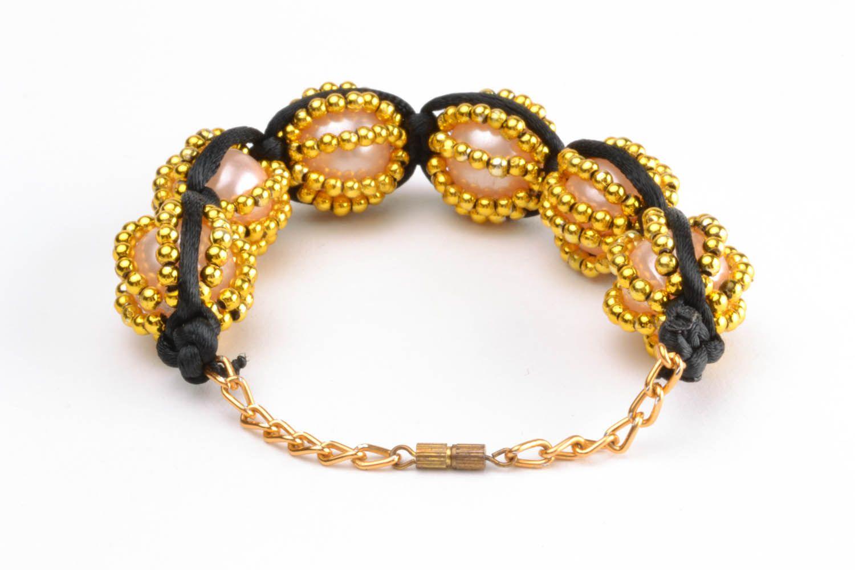 Yellow braided bracelet  photo 4