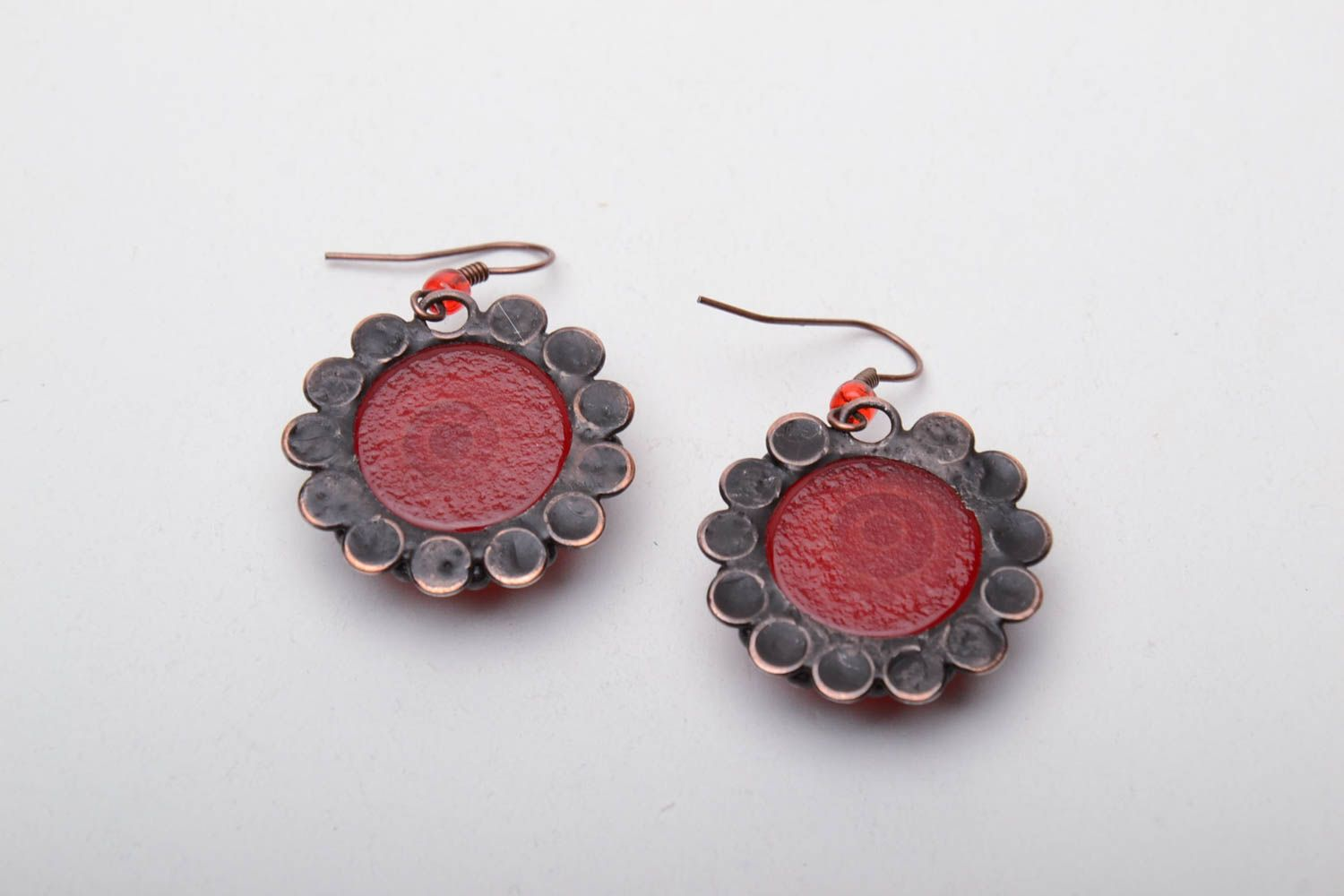 Stained glass earrings photo 4