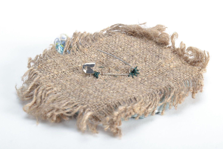 Designer fabric brooch photo 4