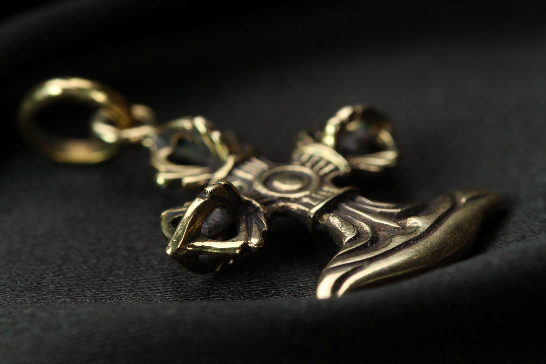 Bronze pectoral cross photo 2