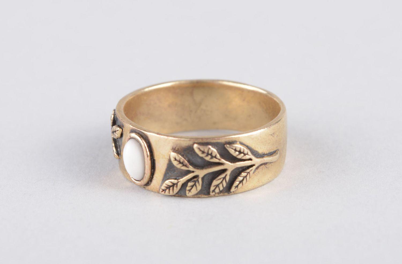 Handmade women ring bronze rings for women metal jewelry for women metal ring photo 8