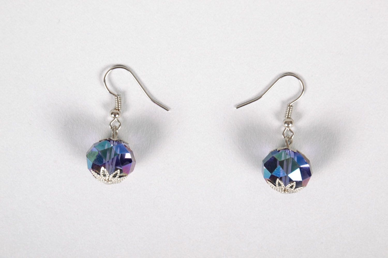 Earrings made of beads photo 2