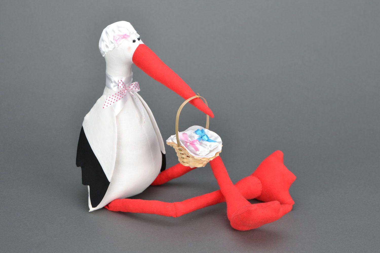Как сшить игрушку аиста