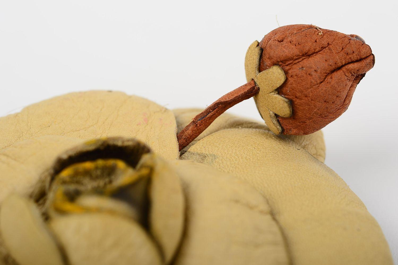 abstraction brooches Handmade leather brooch designer flower brooch unusual elegant brooch - MADEheart.com