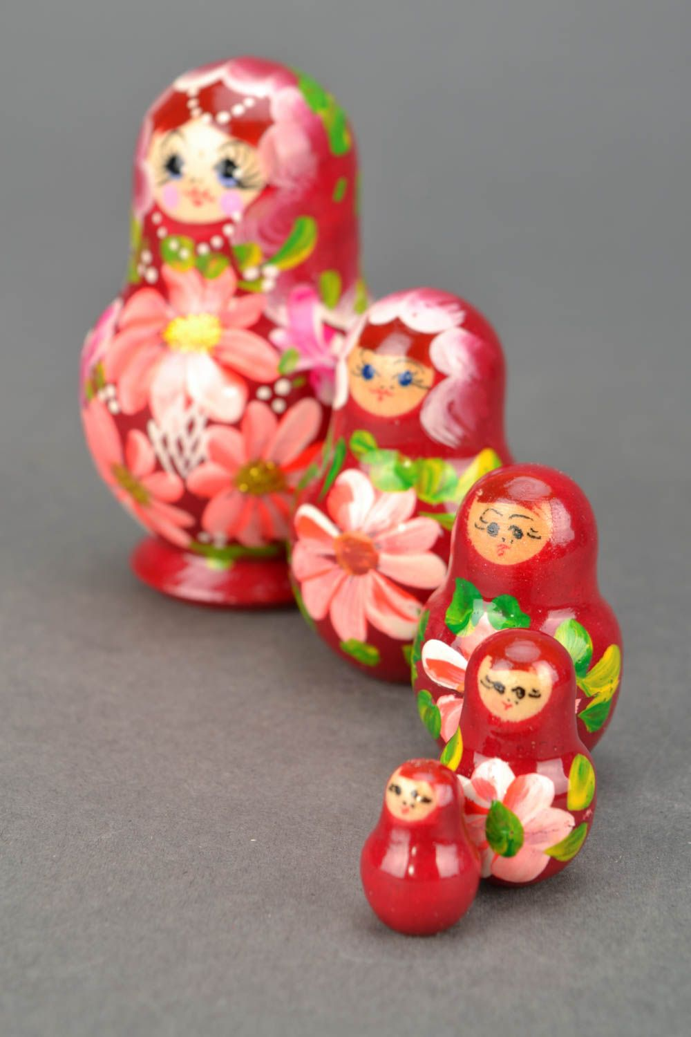 Painted wooden nesting doll photo 3