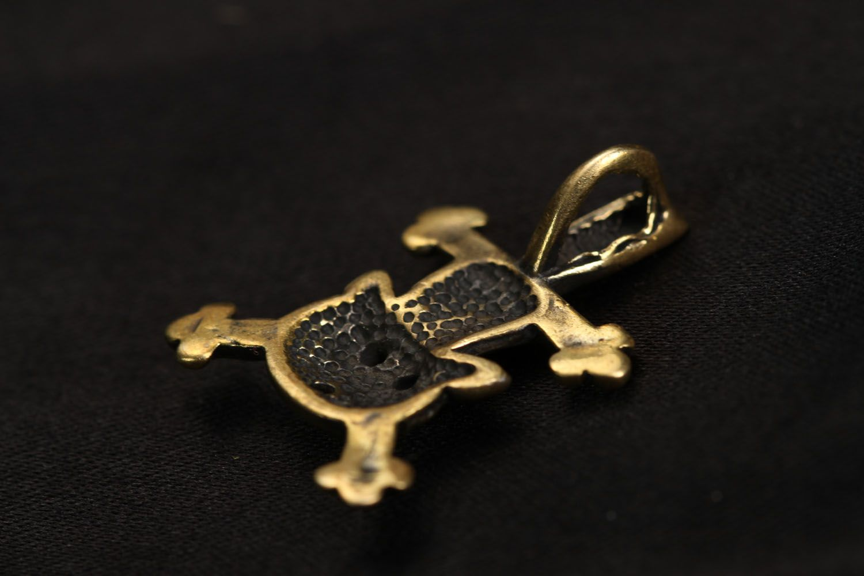 Handmade bronze pendant Cat Astronaut photo 3