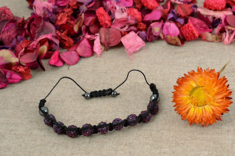 Bracelet with beads and nylon thread photo 1