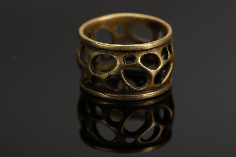 Бронзовое кольцо Сыр фото 1