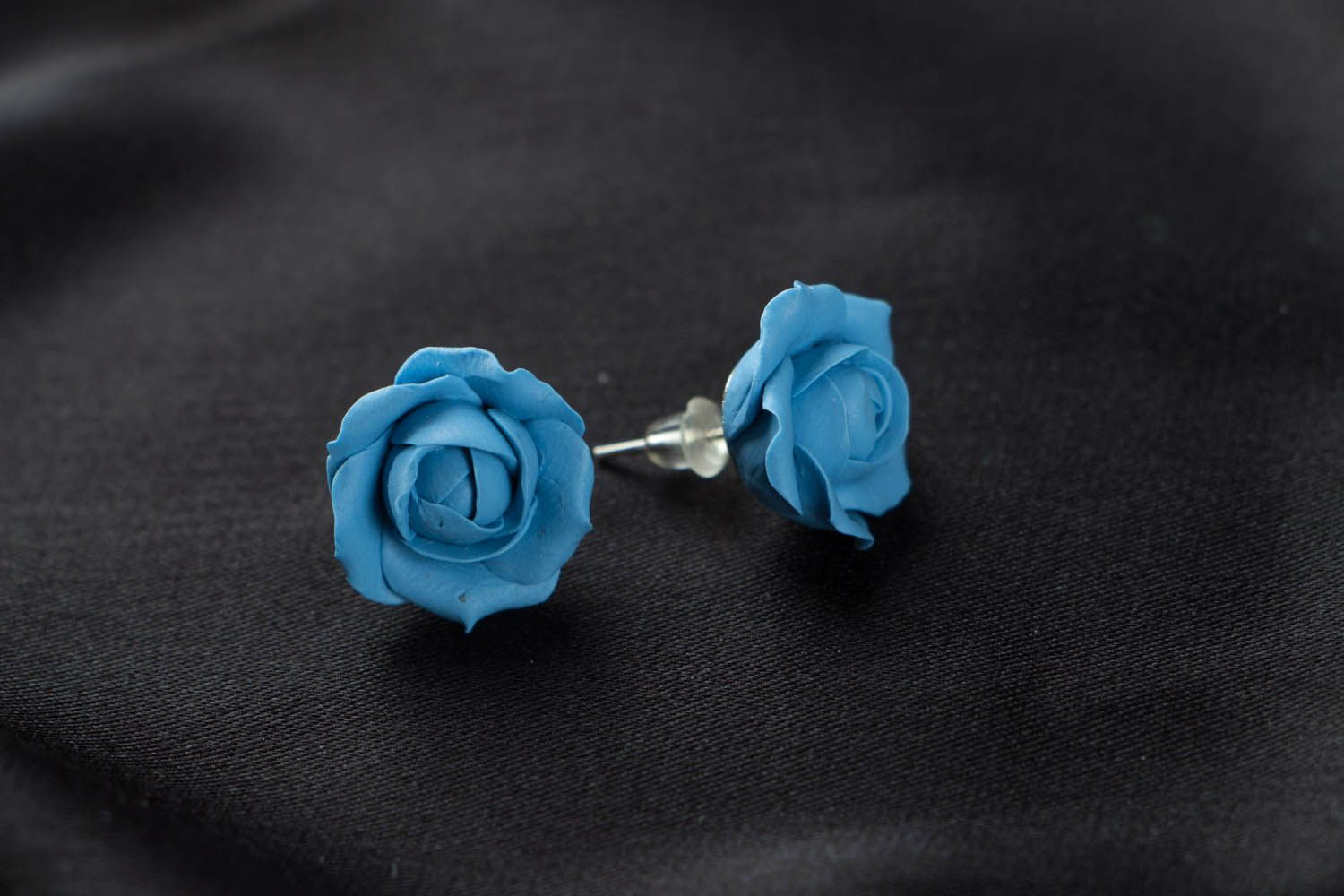 Polymer clay puset earrings  photo 1