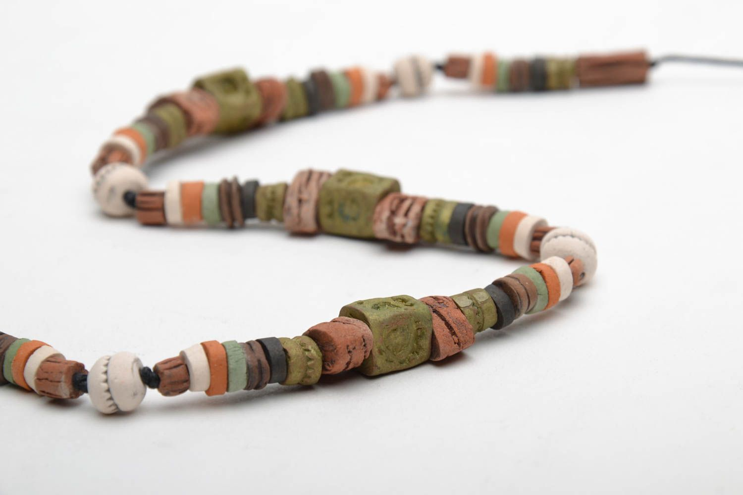 Colorful clay necklace photo 5