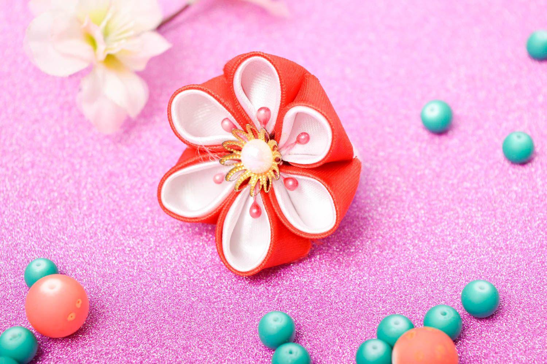 Handmade designer hair tie unusual flower accessory elegant cute hair tie photo 1