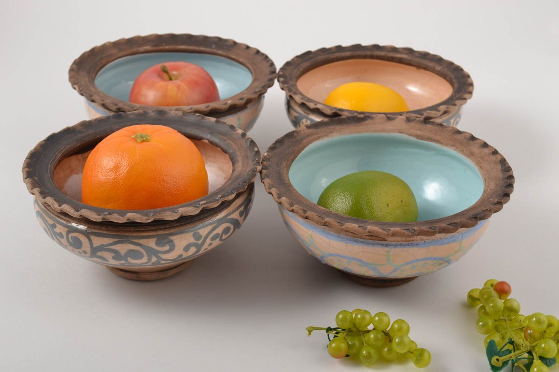 Madeheart juego de vajilla artesanal de 4 cuencos de for Utensilios de cocina de ceramica