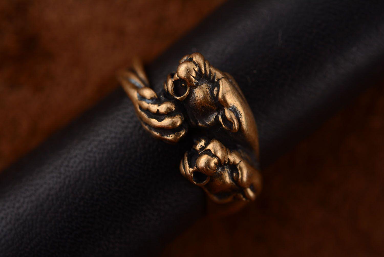 Ring aus Bronze Panther foto 2