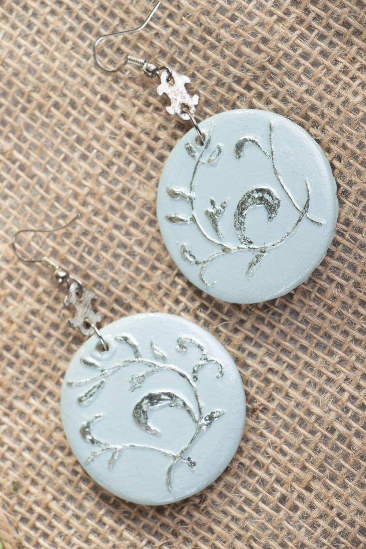 Homemade earrings Misty Rose photo 3