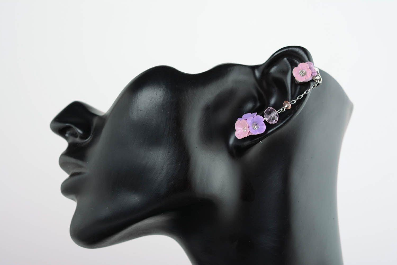 Lilac cuff earrings photo 1