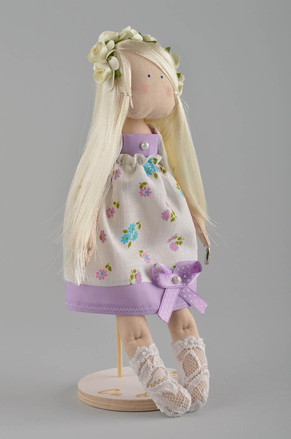 Soft doll handmade girl doll homemade decorations souvenir ideas gifts for her photo 2
