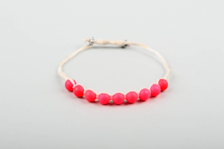 Handmade beaded textile bracelet unusual stylish bracelet elegant jewelry photo 3