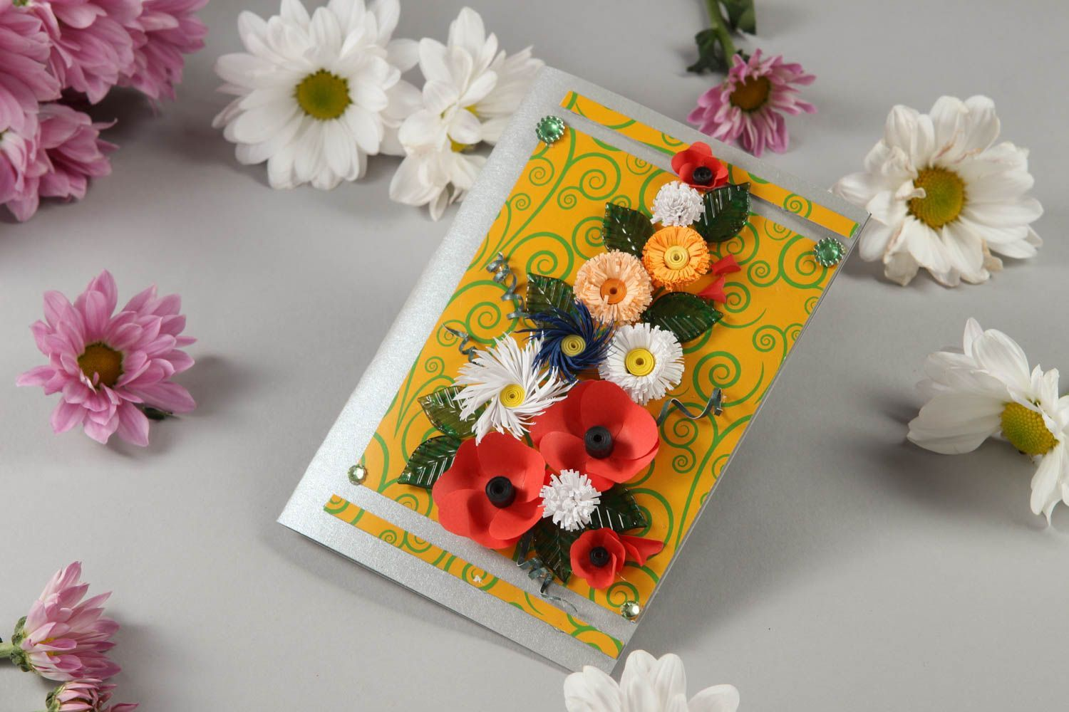 Stationery Beautiful Handmade Greeting Card Post Quilling Birthday Cards
