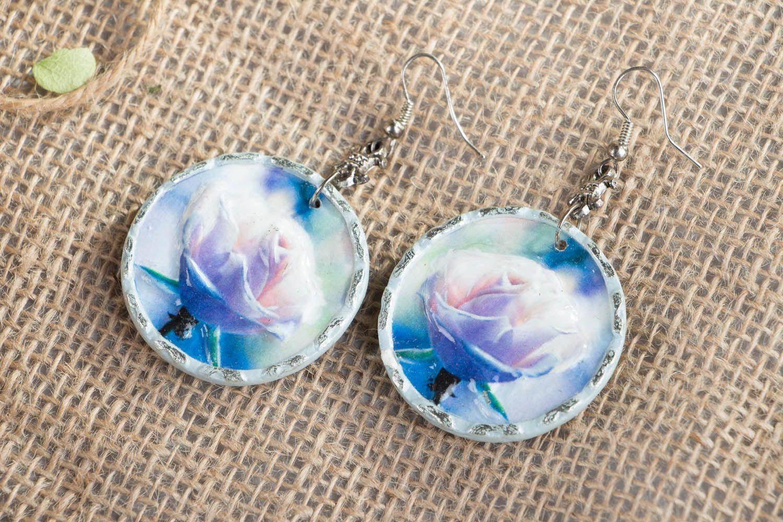 Homemade earrings Misty Rose photo 1