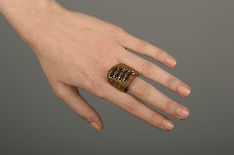 Wooden ring handmade wooden jewelry stylish ring handmade jewelry for women photo 5