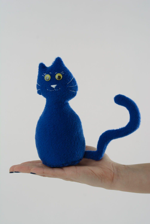 Textile toy Blue Cat photo 4