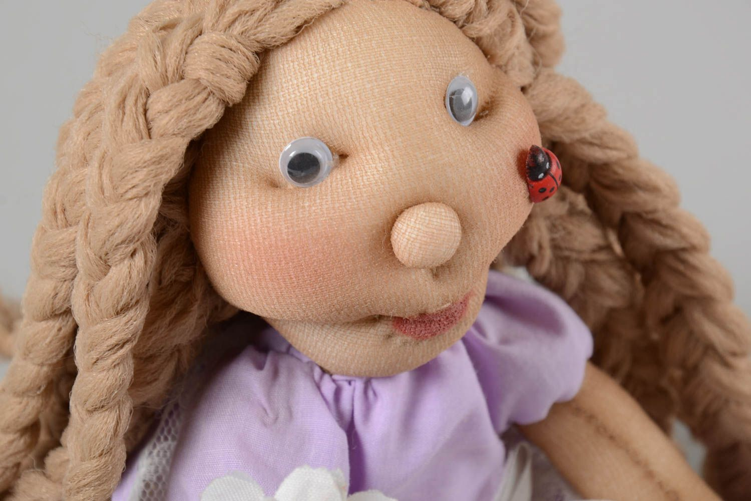 Unusual handmade soft toy stuffed toy rag doll house and home gifts for kids photo 3