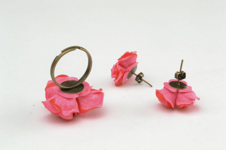 Plastic jewelry set Roses photo 5