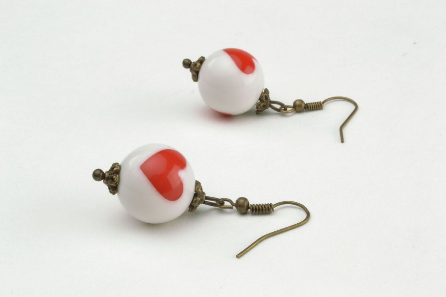 Dangle earrings made of polymer clay photo 3