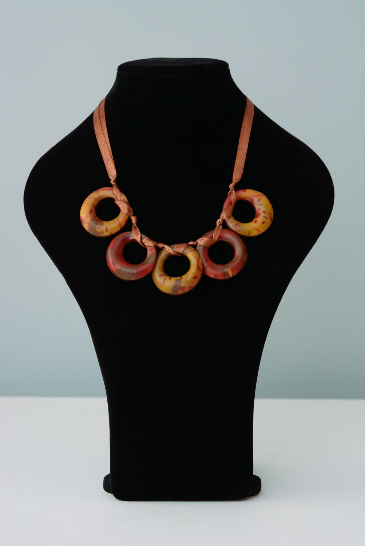Homemade plastic necklace photo 1