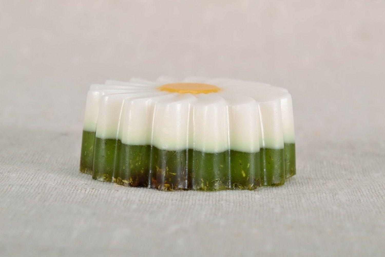 Soap with camomile tea photo 3