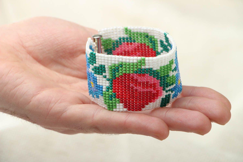 Breites Armband aus Glasperlen foto 3