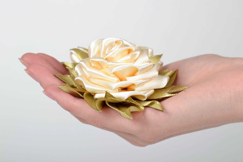 Satin handmade brooch Roses photo 4