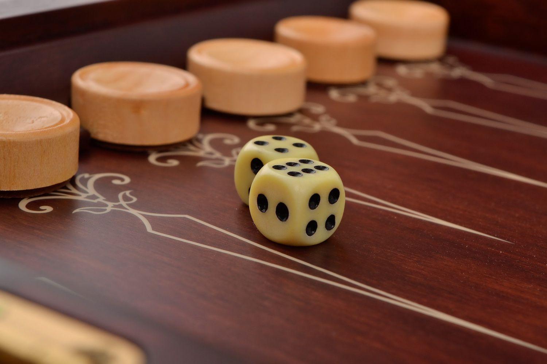 Handmade wooden backgammon photo 5