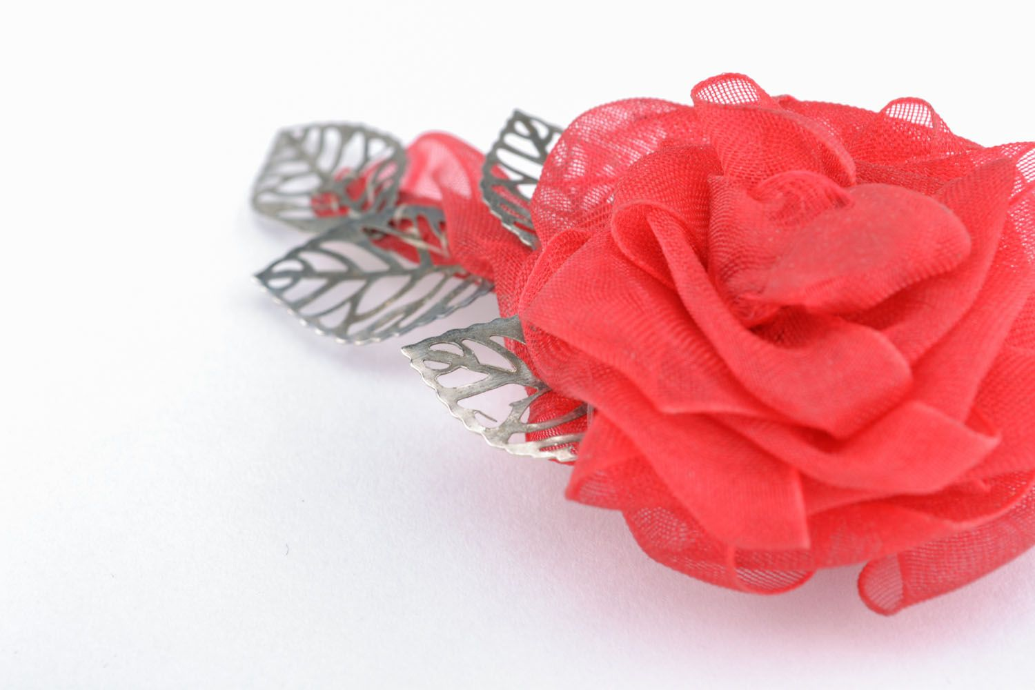 Brooch hair clip in the shape of flower photo 3