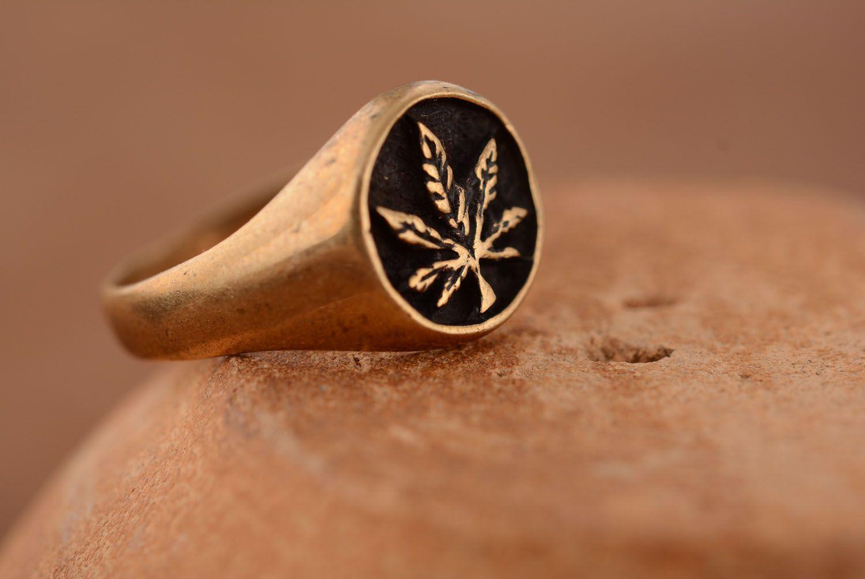 Бронзовый перстень ручной работы фото 1