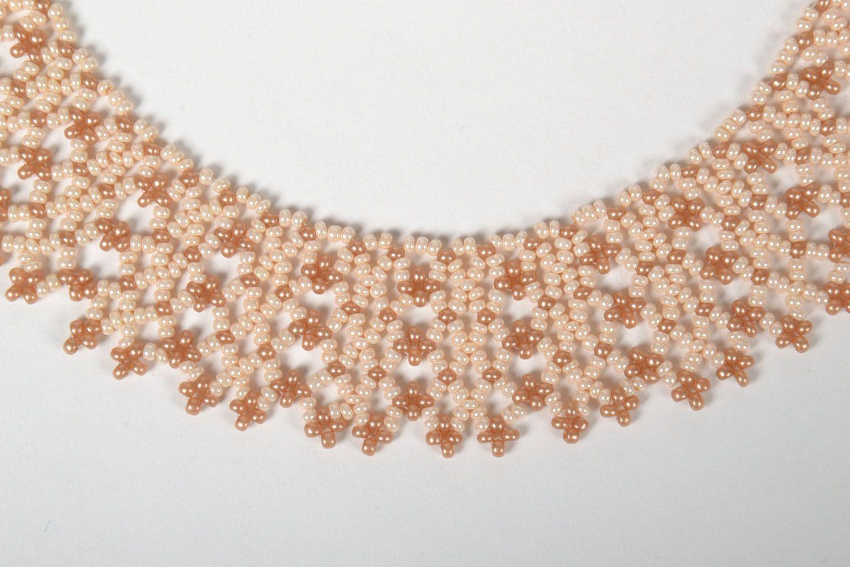 Handmade beaded necklace photo 3
