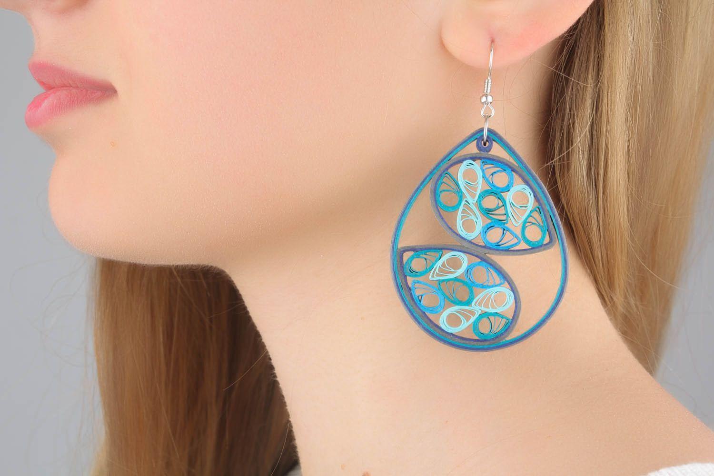Massive paper drop earrings  photo 1