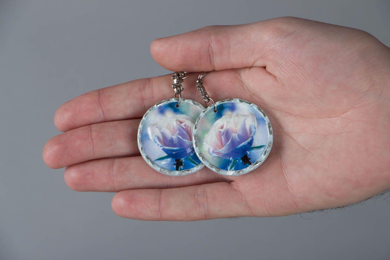 Homemade earrings Misty Rose photo 5