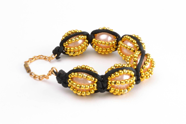 Yellow braided bracelet  photo 5