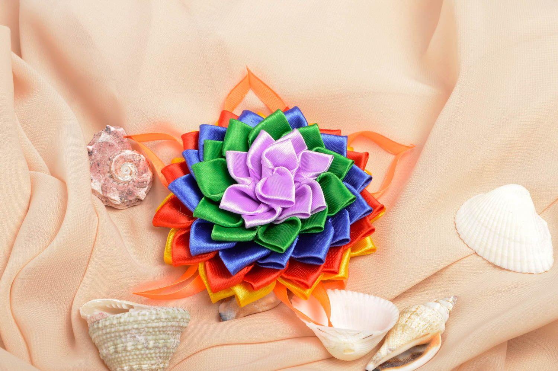 Handmade flower hair clip unusual bright hair clip cute accessory for kids photo 1