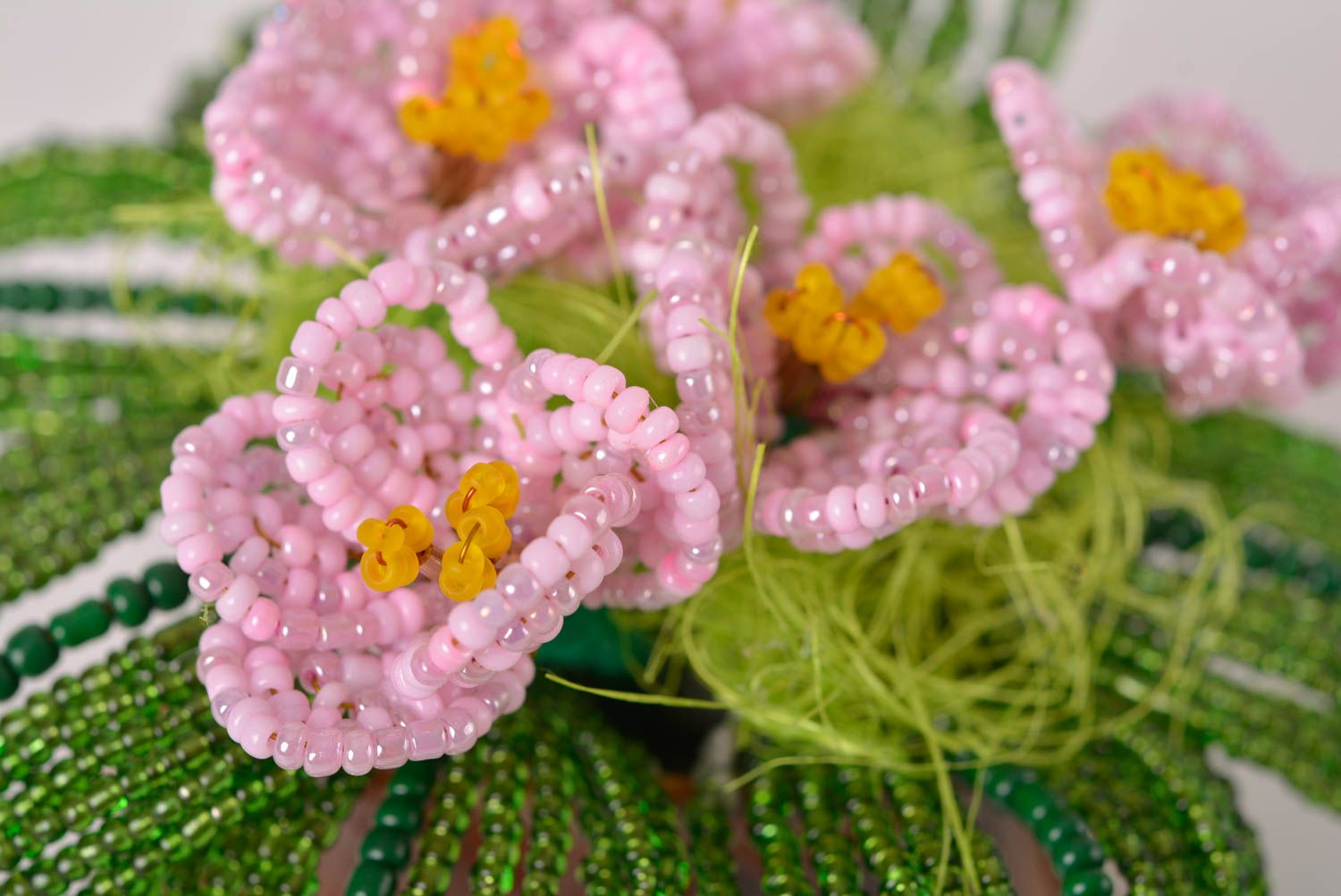 Beaded flowers handmade decorations fake flowers for decorative use only photo 2