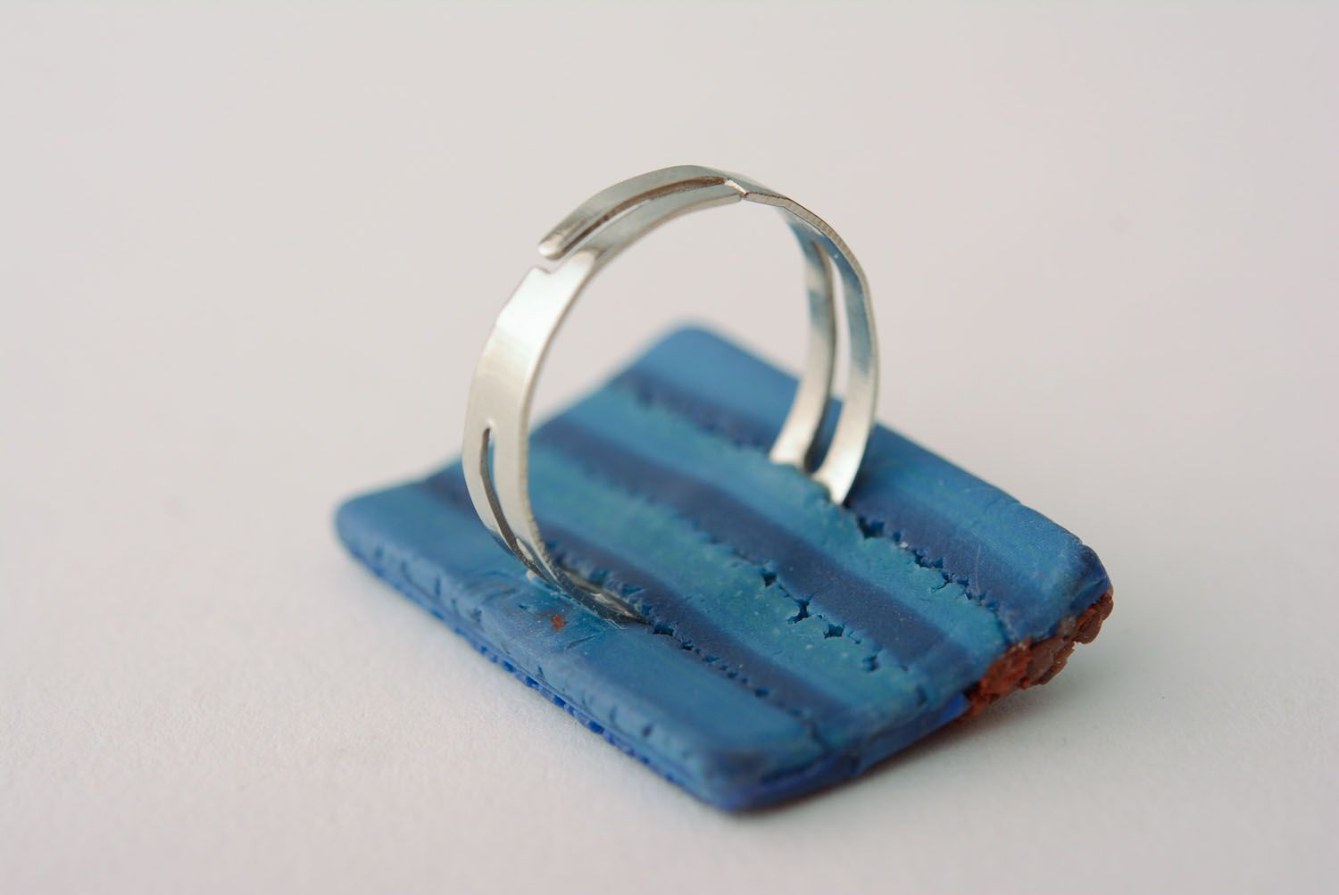 Polymer clay ring photo 5