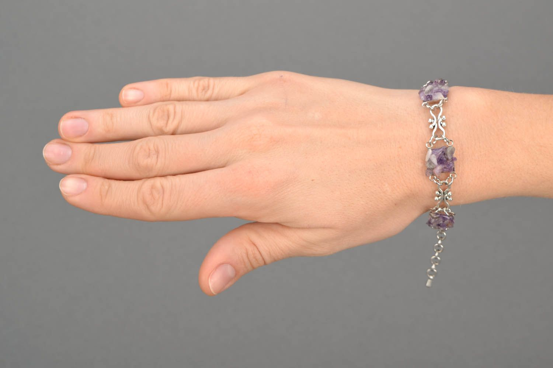 Bracelet with amethyst stone photo 2
