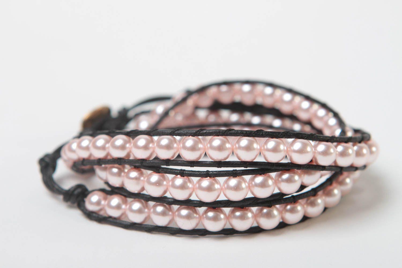 Handmade woven bracelet beaded bracelet designer accessory for every day photo 4